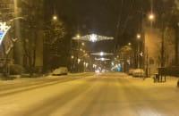 Śnieg na drogach w Sopocie