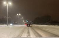 Zasypany Gdańsk o 5 rano, trasa WZ biała