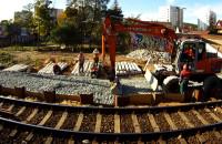 Remont kolei widziany z SKM-ki