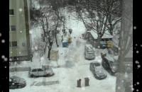 Zimowy widok z mojego okna