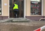 Działania policji na miejscu napadu na jubilera we Wrzeszczu