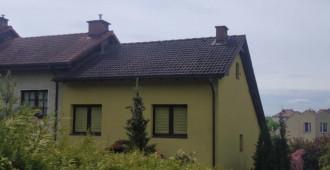 Czyszczenie elewacji, kostki i dachu.