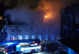 Pożar pustostanu na Placu Wałowym