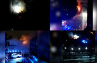 Pożar pustostanu przy pl. Wałowym 2