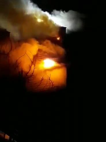 Pożar pustostanu na Plac Wałowy 2