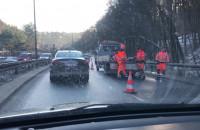 Zwężenie jezdni na Słowackiego w dół