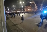 Protest idzie w kierunku Zieleniaka ...