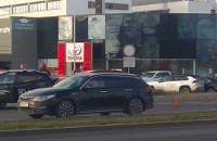 Kolizja na Grunwaldzkiej w Oliwie w stronę Wrzeszcza