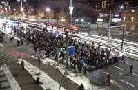 Protestujący są przy Dworcu Głównym