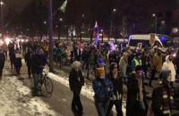 Grunwaldzka - protest Strajku Kobiet