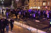Strajk Kobiet idzie przez Wrzeszcz