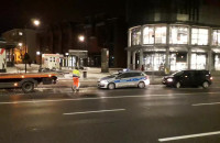 Policja blokuje przystanek przy dworcu w Gdańsku