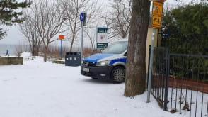 Policja w Sopocie nad morzem