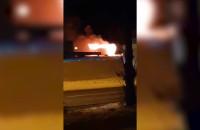 Pożar auta na Kowalach przy Lidlu