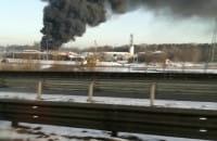 Pożar opon na złomowcu Panta