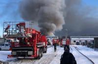 Pożar na złomowcu w Letnicy. Płoną opony