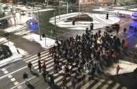 Protestujący zablokowali Hucisko na 103 sekundy
