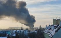Film z porannego pożaru złomowiska w Letnicy