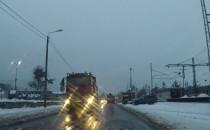 Zimowe pozdrowienia ciężarówek