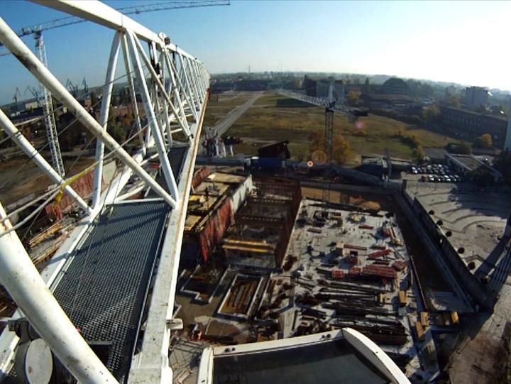 Plac budowy ECS wzeszłym roku.