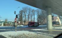 Akcja straży pożarnej przy Galerii Bałtyckiej