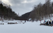 Niedzielne zimowe ogniska na Polance...