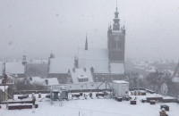 Śnieżyca przysłoniła widok na Gdańsk