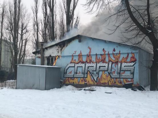 Płonie budynek Corpus Gym w Brzeźnie