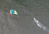Pierwsi kitesurferzy w Sobieszewie