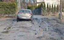 Fatalny stan drogi w Jankowie