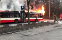 Autobus miejski spłonął na Smoluchowskiego