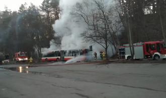 Pożar autobusu wrzeszcz