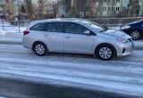 Oblodzone drogi na Witominie