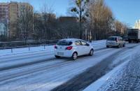 Poranne utrudnienia na drogach w Gdyni. 5.03.2021