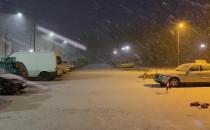 Poranne opady śniegu na Witominie