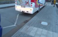 Autokary z włączonymi silnikami w Gdyni