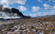 Pożar w Chwaszczynie. Wylądował helikopter...