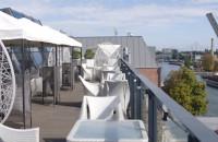 Widok na Motławę z tarasu Hilton Gdańsk