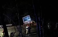 Stawianie autobusu po wypadku