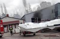 Pożar stoczni jachtowej Galeon