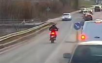 Motocyklista pędził pod prąd