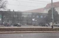 W centrum Gdańska śnieg