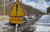 Zator na Słowackiego przez wycinkę drzew