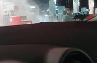 Na stacji benzynowej palił się człowiek