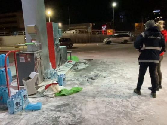 Na stacji benzynowej podpalił się mężczyzna. Policja prowadzi oględziny