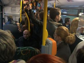 Tłok w gdańskich autobusach