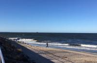 Wzburzone morze na Westerplatte