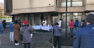 Święcenie pokarmów przed kościołem na Przymorzu