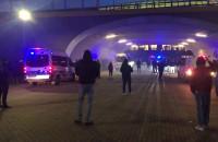 Kibice Lechii zebrali się pod stadionem