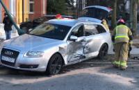 Wypadek na Piastowskiej. Policja blokuje przejazd
